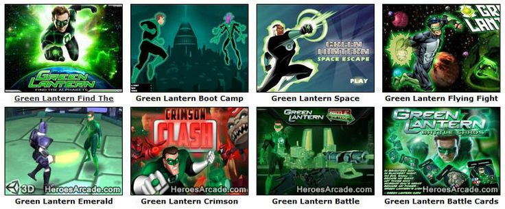 Play Green Lantern Games online at HeroesArcade.com
