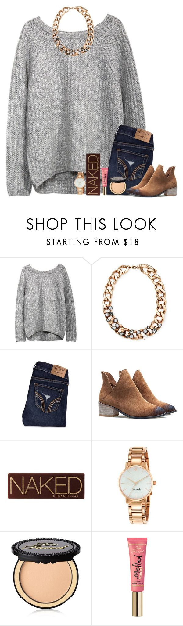 """""""#katiestrong   read d!"""" by bloom17 ❤ liked on Polyvore featuring Forever 21, Hollister Co., Urban Decay, Kate Spade, Too Faced Cosmetics, women's clothing, women's fashion, women, female and woman"""