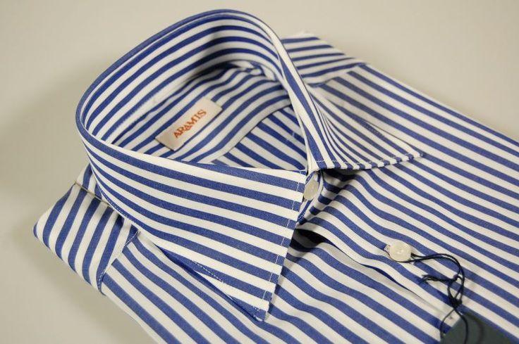Blue striped shirt slim fit aramis