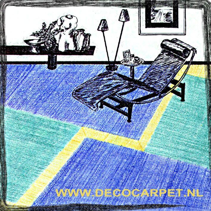 Vloerontwerp in tapijt schetsontwerp. Tony Burki