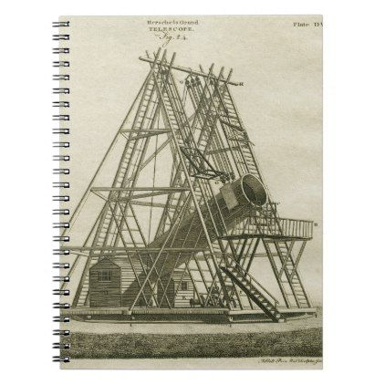 Telescope Antique SCIENCE EQUIPMENT 18TH CENTURY Notebook - antique gifts stylish cool diy custom
