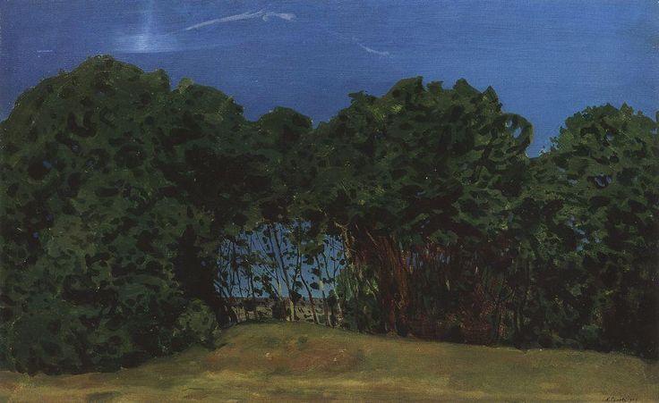 Paysage d été, 1900 de Konstantin Somov (1869-1939, Russia)