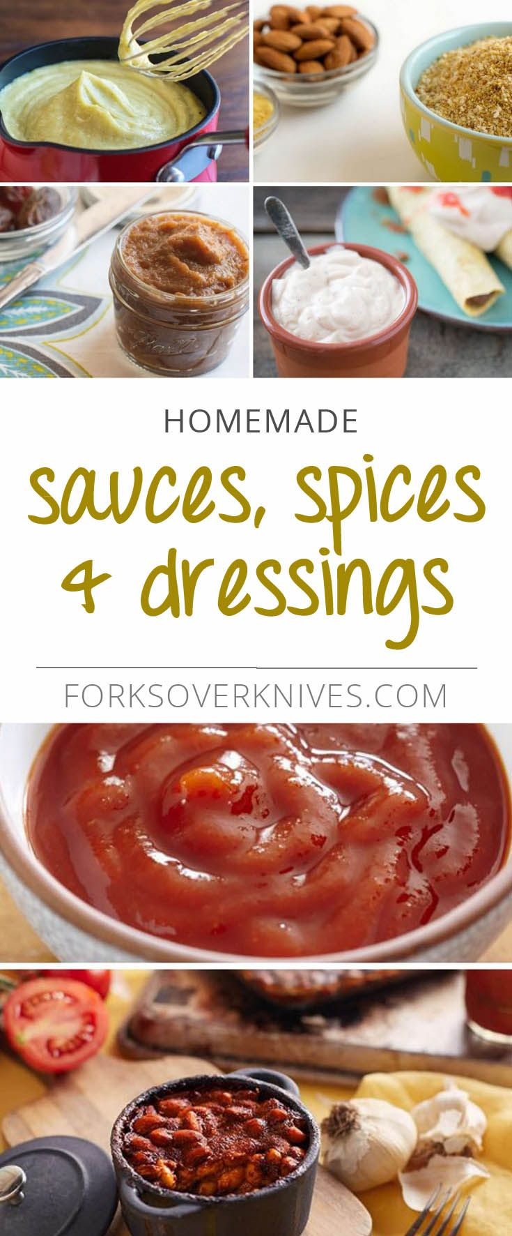 Healthy Homemade Sauces, Spices, and Dressings for Easier Cooking and Baking - Plant-Based Vegan Recipe