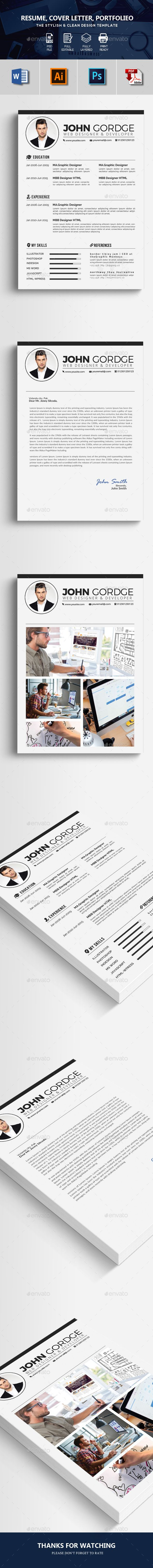 3 Pages Resume CV Template 5126 best