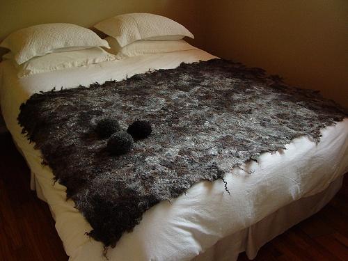 Dark chocolate wool felt prototype by Modern Fiber Lab - Sonya Yong James, via Flickr