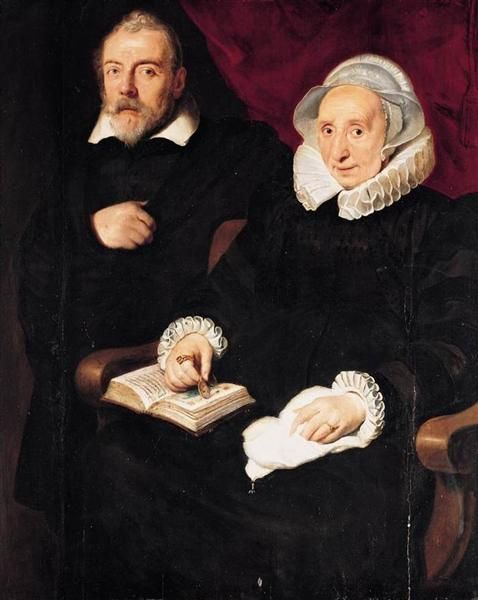 Portrait of Elisabeth Mertens and her Late Husband, 1630 - Cornelis de Vos