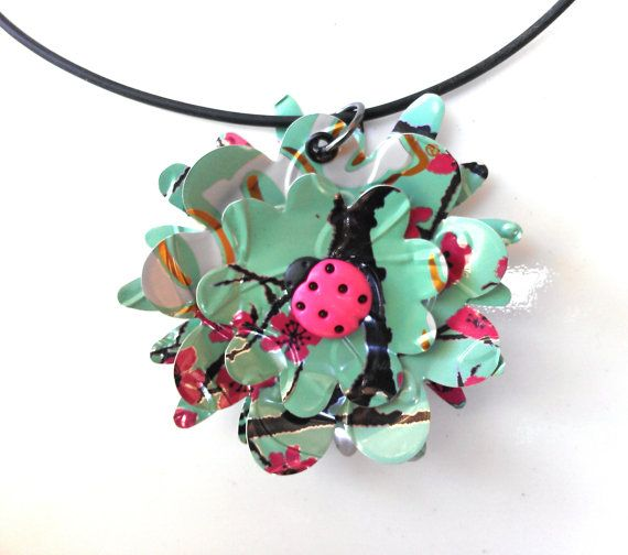 Tween Jewelry Recycled Soda Can Jewelry Ladybug by AbsoluteJewelry, $30.00
