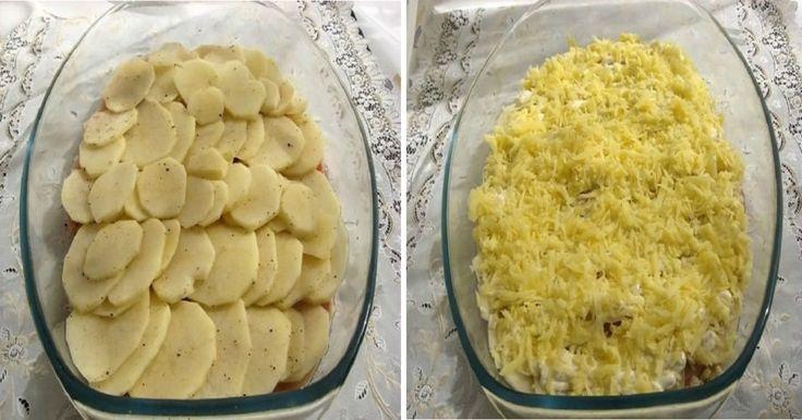 A burgonyát karikára vágta, felszeletelte a csirkemellet és elkészítette a világ legegyszerűbb ebédjét! - Bidista.com - A TippLista!