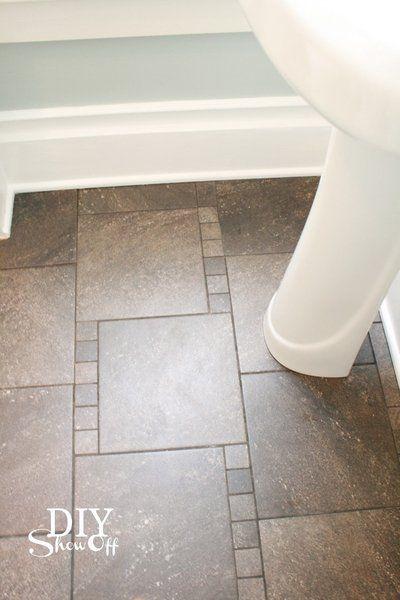 Bathroom Floor Tile Baseboard : Decorative baseboard trim and bath