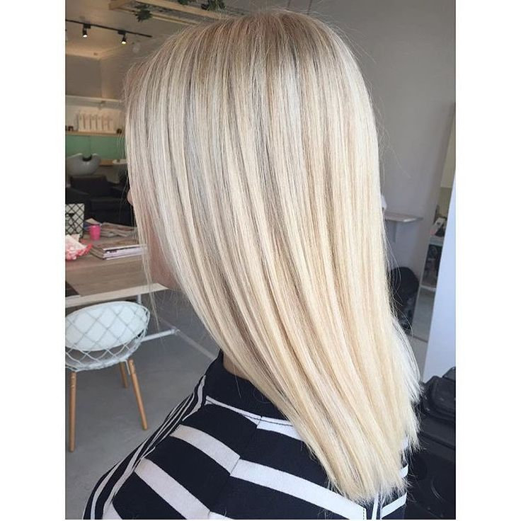 Creamy gold toner on a super bright blonde base  #dreamhair #blonde by  @hairbygracec