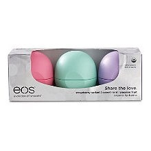 EOS Lip Balm Set - this was waxy and not noticeably hydrating. and rubbed off within 2 hours. I don't recommend.