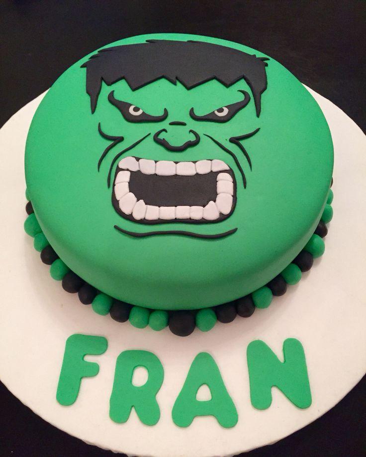 Torta increíble Hulk. Incredible Hulk cake