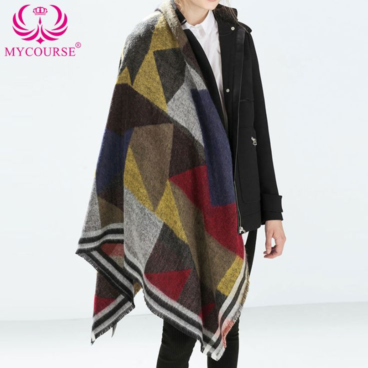 Find More Scarves Information about MYCOURSE Winter Autumn Scarf Casual Oversize Blanket Tartan Plaid Stole Designer Women Bandana Acrylic Scarf Shawl 140x122cm ,High Quality scarves stoles shawls,China scarf Suppliers, Cheap shawls for evening wear from MYCOURSE on Aliexpress.com