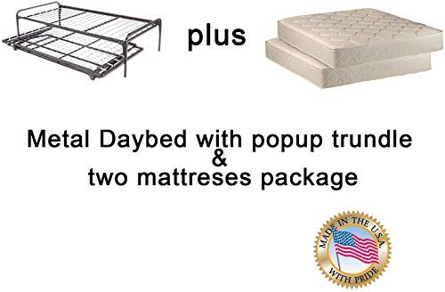 Best The Dream Solutions Twin Size Metal Day Bed Daybed Frame 640 x 480