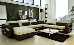 2014 Hot Sale Modern big white U-shaped genuine leather round Corner Sofa Best living room sofa 9119 - from Alibaba.com