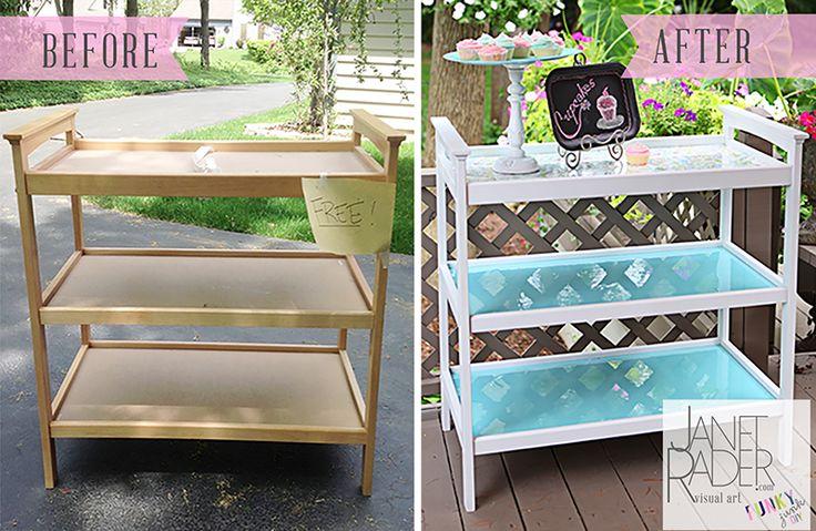 Repurposed changing table.  #DIY