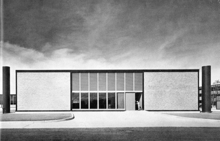 Dynamometer Building General Motors Technical Center Warren Michigan Eero Saarinen 1949 56