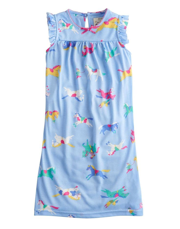 Joules Kids Natasha Nightgown Blue Pony