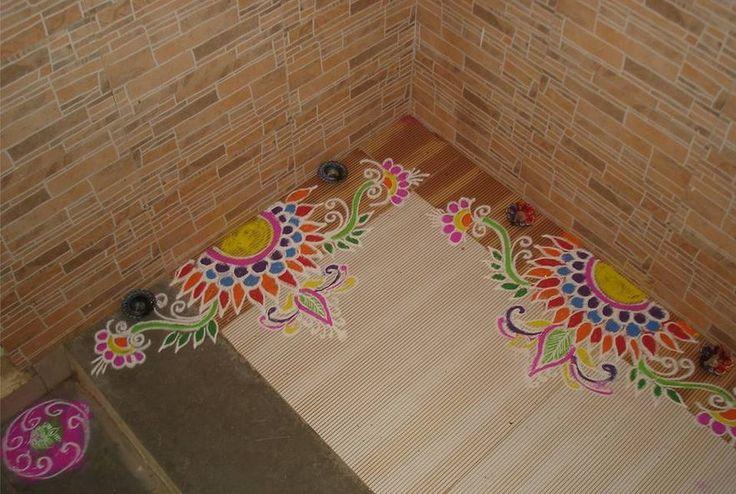 Easy Border Rangoli Designs