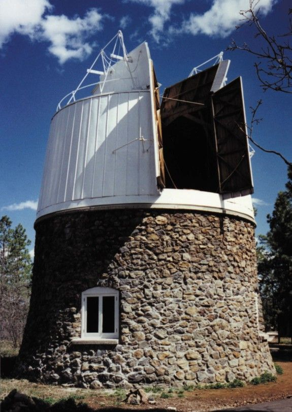 The Pluto Discovery Telescope's building and dome at Lowell Observatory.