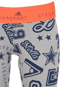 adidas by stella sport - 여성 - 트레이닝 - climawarm printed stretch leggings