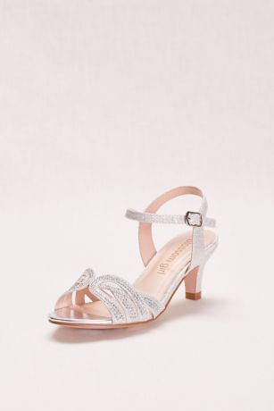 Girls Low Heel Quarter Strap Crystal Sandal Style BCRYSTAL11