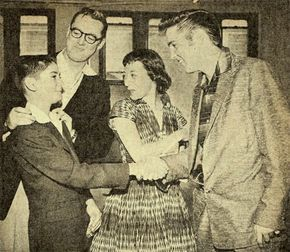 We go back to July 1st 1956 this week with a behind the scenes pic. On that day Elvis appeared on the Steve Allen show. Where he performed two songs; 'I want you, I need you, I love you' and 'Hound Dog.-ElvisNews.com: Picture gallery - Photos