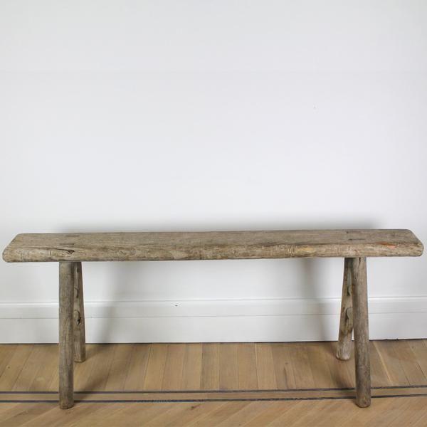 Fijne, vintage houten bank - Webshop met showroom in Antwerpen - Saint Eve