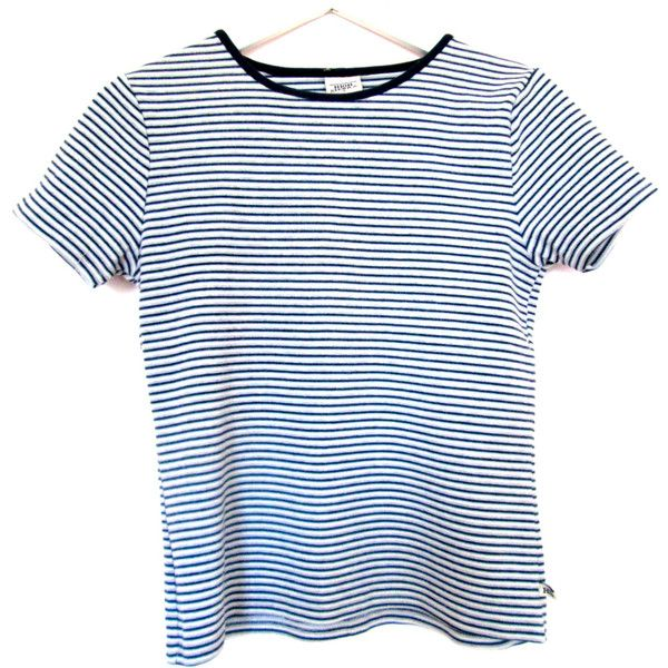 90's Striped Top size - S/M (€19) ❤ liked on Polyvore featuring tops, t-shirts, shirts, tees, vintage t shirts, short sleeve t shirt, stripe t shirt, cotton t shirt and cotton shirts