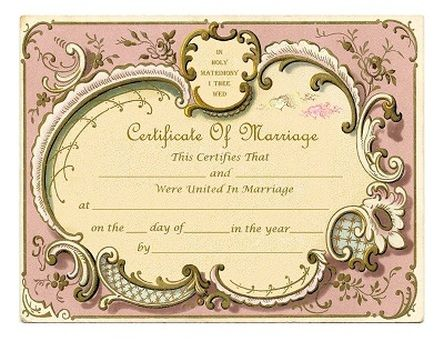 289 best All Things Wedding images on Pinterest Marriage - marriage certificate