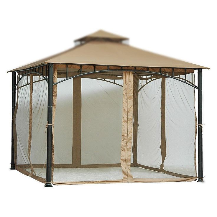 7 ft (84 in) Tall Beige Mosquito Net ONLY for 10x10 Gazebo w/ Velcro Straps Product SKU: GA01005 ** You can get additional details at the image link.