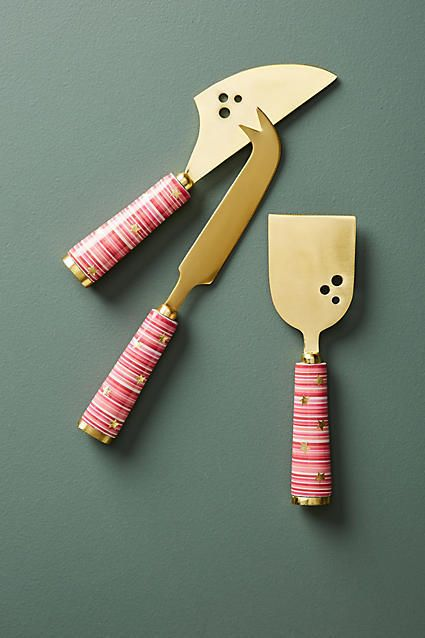 Anthropologie Alicia Cheese Knife Set