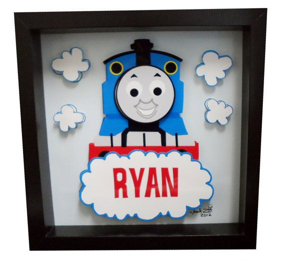 This Thomas the Train Art will come personalized with the name of your choosing. The artwork is the perfect baby shower gift, birthday or holiday gift.