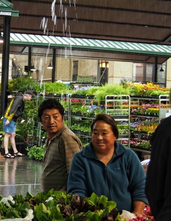 Rainy Market Day