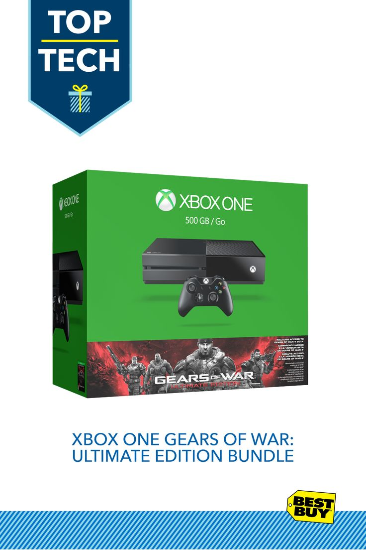 Xbox One Gears of War: Ultimate Edition Bundle :: This Xbox One bundle includes a full-game download of the hit game Gears of War: Ultimate Edition bundled with your Xbox One purchase. This new Xbox One bundle lets any gamer on your list plug and play right away with loads of extras and smart entertainment from Netflix and Hulu Plus and brings them that much closer to all the hottest Xbox One games—a powered-up gift for any gamer.
