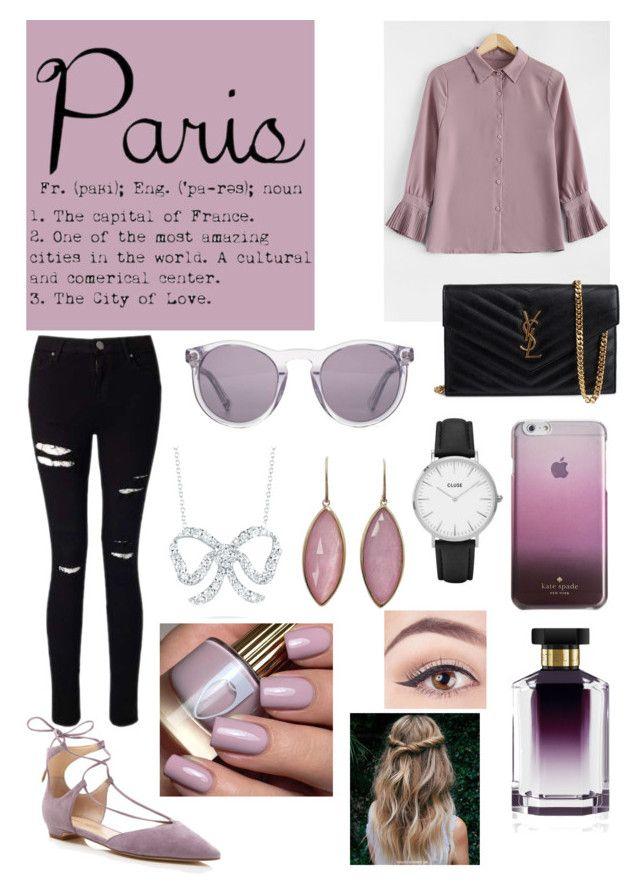 """PARIS"" by auroradesign ❤ liked on Polyvore featuring Miss Selfridge, Ivanka Trump, Yves Saint Laurent, HOOK LDN, CLUSE, Kate Spade, Roberto Coin, Jona and STELLA McCARTNEY"
