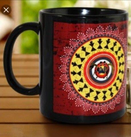 Warli art on mug
