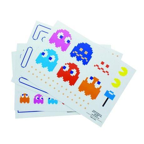 Pac Man Gadget Decals Fridge Stickers, Multi-Colour