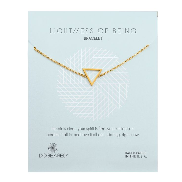 Lightness of Being Air Triangle Soldered Bracelet, Gold Dipped | Dogeared