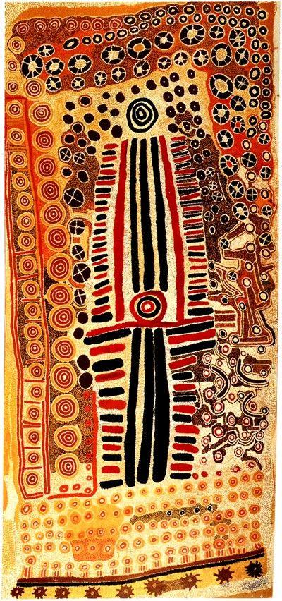 Paddy Jupurrurla Nelson, Paddy Japaljarri Sims, and Larry Jungarrayi Spencer, Yanjilypiri Jukurrpa (Star Dreaming), 1985 (f109).
