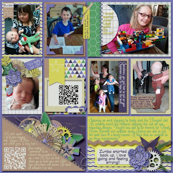 Template: AKDesigns- Life's A Project Kit: Ponytails Designs- Boyish Charm