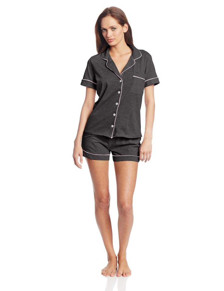 Bottoms Out Women's Knit Pajama Short Set at Amazon Women's Clothing store: