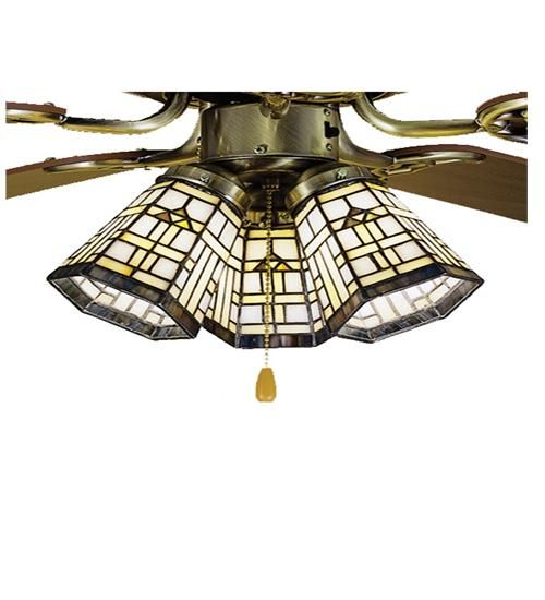 "4""W Arrowhead Mission Tiffany Ceiling Fan Light Shade"