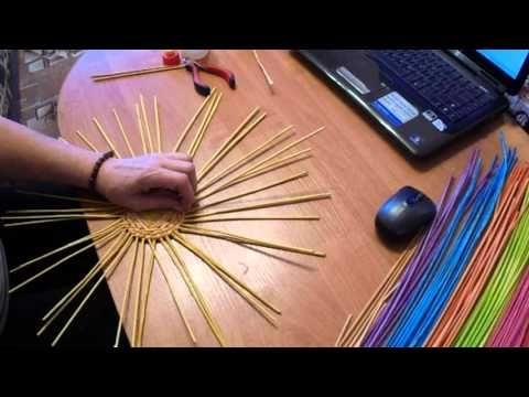 мк корзинки курочки спиральным рисунком - YouTube