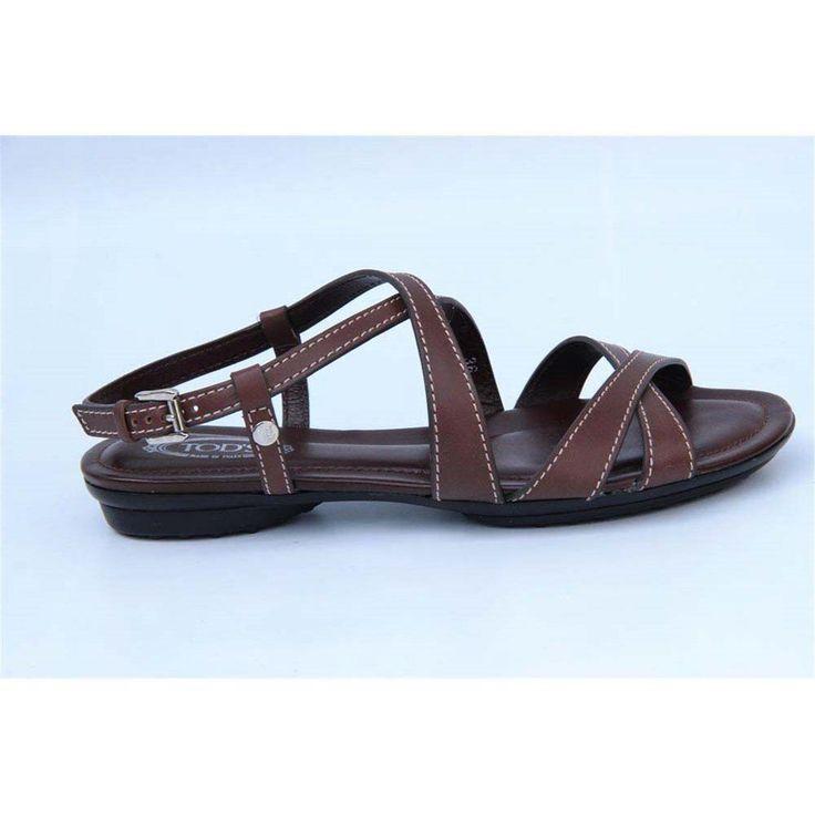 Brown 36.5 EUR - 6.5 US (244mm) Tods ladies flat sandal XXW0KU07520BHWS602
