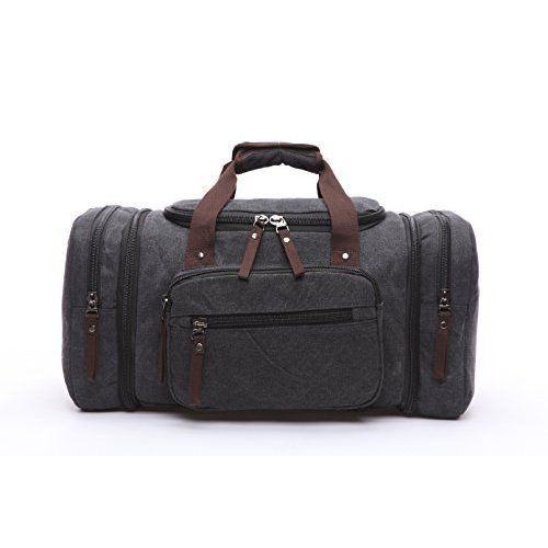 Travel Bag Duffel Weekend Unisex Womens Mens Canvas Cotton Weekender Daily Use #TravelDuffelBag #TravelBag