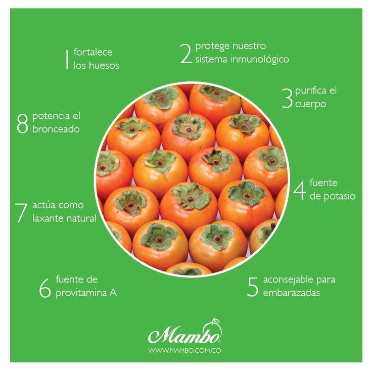 8 beneficios del #caqui frutas y verduras Mambo www.mambo.com.co