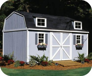 Handy Home Berkley 10x14 Wood Storage Shed Kit 6' walls w 10' peak. Loft ..... Slide & rock wall to either end of loft & swing on front porch.