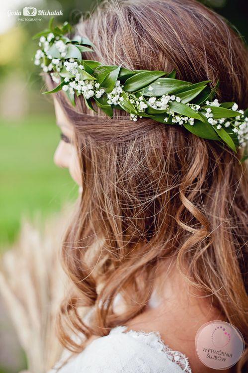 dekoracje ślubne wianek do włosów