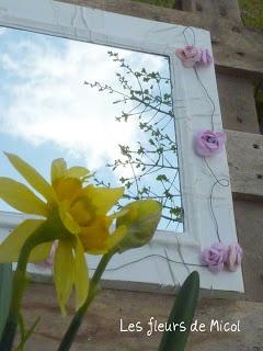 les fleurs de micol: LUNGO IL SOTTILE FILO...specchio realizzato con anta da cucina
